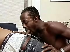 Eager ebony gay gets compressed heavily