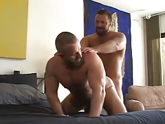 Lusty bear gays unyielding fuck in doggy style