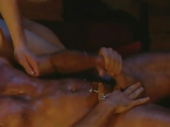 Hairy man-lover man jizzes right after anal