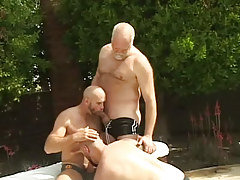 Full-grown  homosexuals oral sex all the time other outdoor