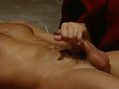 Hairy man-lover cums right later hard anal