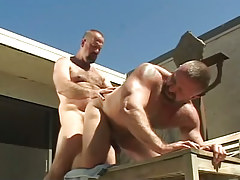 Melodious muscle bears crazy fuck in doggy style