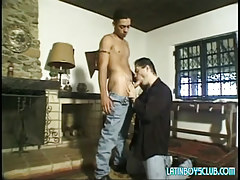 Lusty dad sucks innocent latin dude