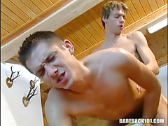 Lusty twink fucked behind by cute boy-friend