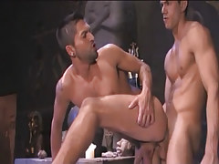 Glamorous Arabian gay penetrates in partner behind