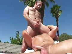 Mature twink licks hairy males rectal hole outdoor