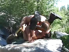 Muscle gay champs hard fuck by river