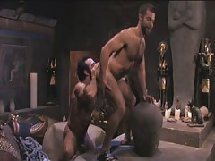 Unshaved homosexual licked by muscle Arabian boy-friend in pyramid