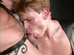 Young gay in leather sucks pride of bear dilf