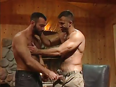 Muscle hairy gay guy seduces fella in house hunting