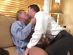Slutty full-grown fruits take up with the tongue and make blowjob