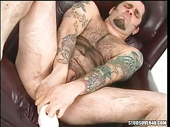 gay bottomless fills big tool in asshole