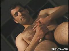 Bear gay masturbates