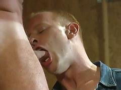 Hot gay man fellow throats appetizing dick