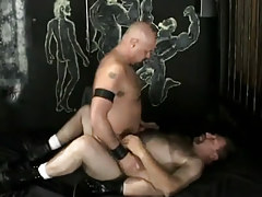 Gay dilfs rides curly placid man