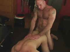 Hairy dilf makes love grown partner in doggy style