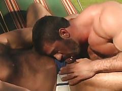 Bear twink sucks his hairy partner