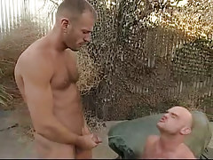 Depraved twink pissing on boyfriend outdoor