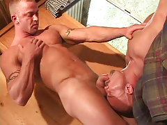 Gay guy dude sucked by lusty melodious man-lover