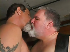 Plump melodious gays kissing