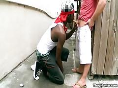 Interracial fruit gay guys suck outdoor