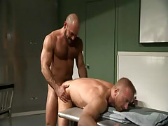Hairy guy humps doctor in doggy style
