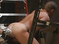 Lusty gay gains fisting in unyielding asshole
