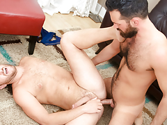 Rich's aching cock gets some of Lucas' constricted hairy ass