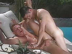 two sex-crazed guys giving intense pleasure to one one more