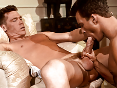 B.J. uses his gargantuan dick to drill Adam's firm booty !