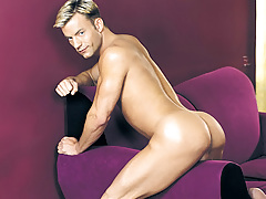 Jackson loves playing with his horny ramrod and just right arse !