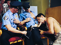 2 Guards Are Stuffing Their Cocks Down A Prisoner's Chop